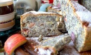 Маковый пирог с яблоками рецепт шаг 22