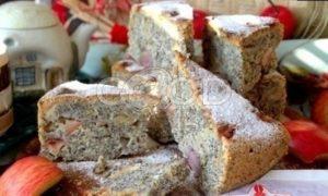 Маковый пирог с яблоками рецепт шаг 24