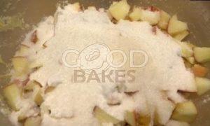 Открытый яблочный пирог рецепт шаг 11
