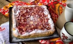 Открытый яблочный пирог рецепт шаг 19