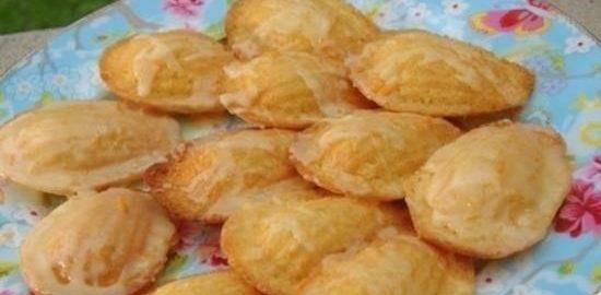 Печенье «Мадлен» в лимонной глазури кулинарный рецепт