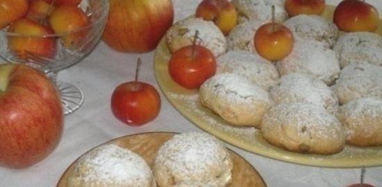 Печенье с яблоками кулинарный рецепт