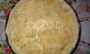 Пирог из творожного теста с тыквенным суфле и яблоками рецепт шаг 12