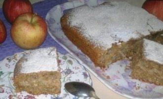 Пирог с яблоками, кокосом и шоколадом кулинарный рецепт