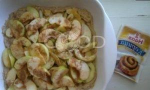 Пирог с яблоками, кокосом и шоколадом рецепт шаг 7