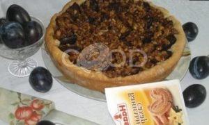 Пирог со сливами и орехами рецепт шаг 18