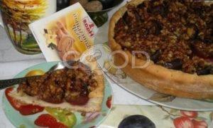 Пирог со сливами и орехами рецепт шаг 19
