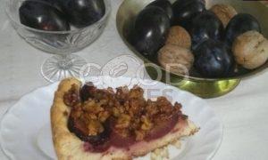 Пирог со сливами и орехами рецепт шаг 20