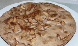 Шарлотка с яблоками «Мулатка» кулинарный рецепт