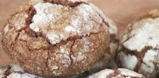 Шоколадное печенье с мраморной корочкой кулинарный рецепт