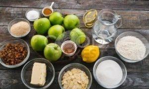 Штрудель с яблоками и изюмом рецепт шаг 1
