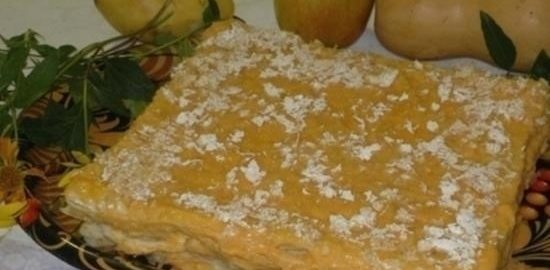 Слоеный торт с тыквенным кремом кулинарный рецепт