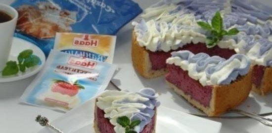 Тарт со сметанно-смородиновой заливкой и взбитыми сливками кулинарный рецепт