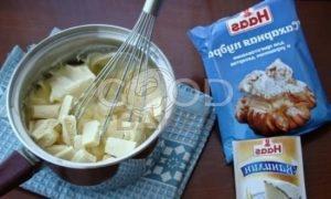 Тарталетки с заварным кремом и белым шоколадом рецепт шаг 8