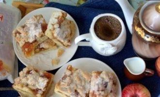 Тертый пирог «Яблочный» кулинарный рецепт