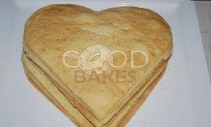 Торт «Малиновое сердце» рецепт шаг 15