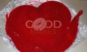 Торт «Малиновое сердце» рецепт шаг 19