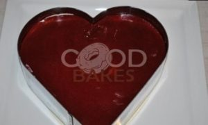 Торт «Малиновое сердце» рецепт шаг 21