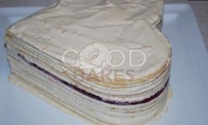 Торт «Малиновое сердце» рецепт шаг 23