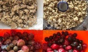 Цельнозерновой крамбл с ягодами рецепт шаг 2