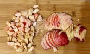 Творожная запеканка с яблоками рецепт шаг 6
