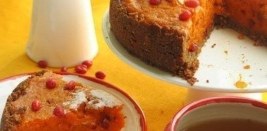 Тыквенный пирог с барбарисом кулинарный рецепт
