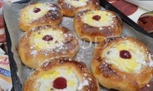 Ванильно-ягодные ватрушки рецепт шаг 5