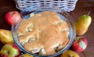 Яблочно-грушевый пирог «Шарли» кулинарный рецепт