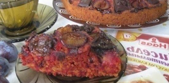 Кекс свекольный «Слива в шоколаде» кулинарный рецепт