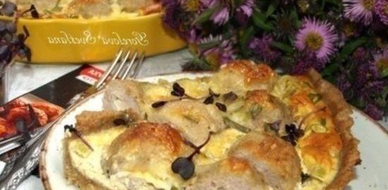 Киш с митболами кулинарный рецепт