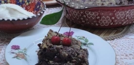 Крамбл шоколадно-вишневый кулинарный рецепт