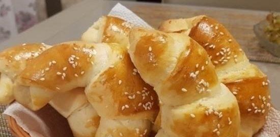 Кунжутные рогалики кулинарный рецепт