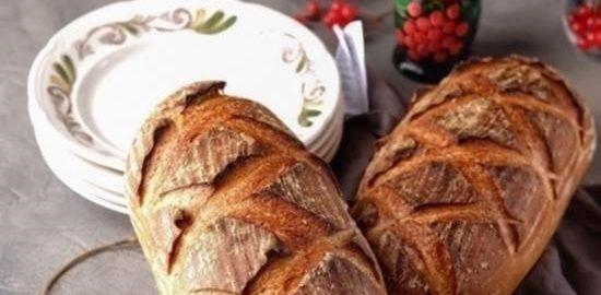 Пшеничные батоны на закваске кулинарный рецепт