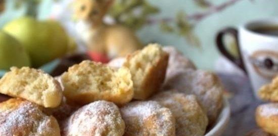 Творожное печенье с яблоком кулинарный рецепт