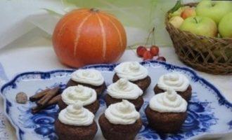 Тыквенные кексы с карамелью кулинарный рецепт