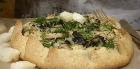 Галета с курицей и грибами кулинарный рецепт
