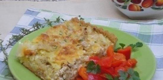 Капустный пирог с мясом кулинарный рецепт