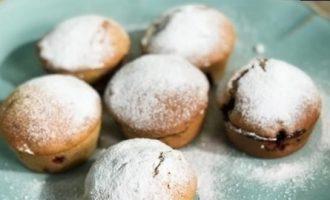 Ореховые маффины с ежевикой кулинарный рецепт