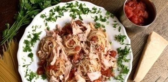 Паста с семгой Paolо кулинарный рецепт