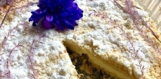 Пирог с лавандой и лаймом кулинарный рецепт