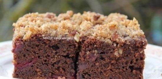 Шоколадный пирог с вишней кулинарный рецепт