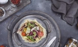 Сырные корзиночки с мидиями кулинарный рецепт