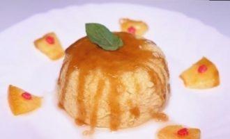 Воздушный фруктовый пудинг кулинарный рецепт