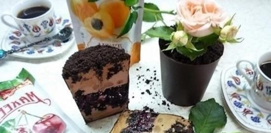 Десерт «Любимый мамин цветок» кулинарный рецепт
