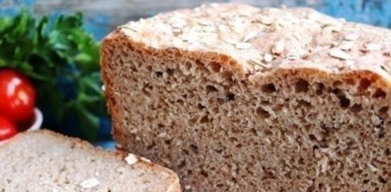 Хлеб с семенами льна и овсяными хлопьями кулинарный рецепт
