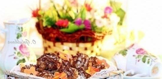 Песочное печенье с клюквой, приготовленное в СВЧ кулинарный рецепт