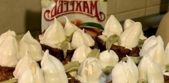 Пирожные «Корзинки с тюльпанами» кулинарный рецепт