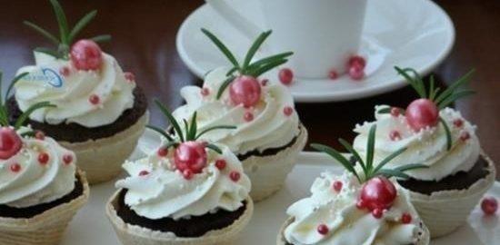 Шоколадные капкейки в СВЧ-печи кулинарный рецепт