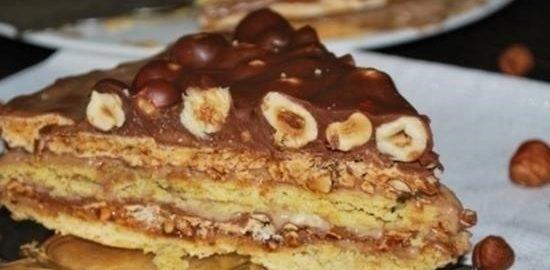 Торт «Ореховый фаворит» кулинарный рецепт