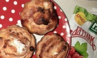 Творожные краффины с джемом кулинарный рецепт